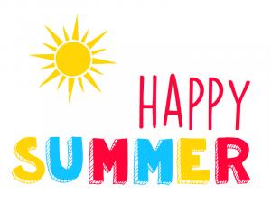 text: happy summer